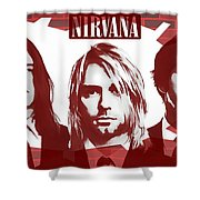 Nirvana Tribute Shower Curtain