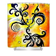Nirvana Zen Yellow Way To Eternity Shower Curtain
