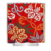Nishike Brocade With Paulownia Arabesque Shower Curtain