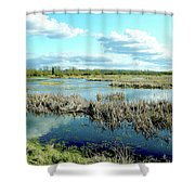 Nisqually Marsh Shower Curtain