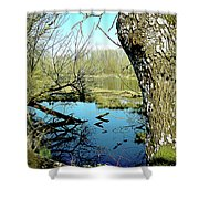 Nisqually Pond Shower Curtain