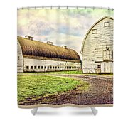 Nisqually Twin Barns Shower Curtain