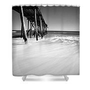 Nj Shore In Black And White Shower Curtain