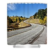 Nm Hwy 64 In The San Juan Mountains Shower Curtain