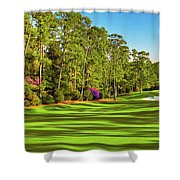 No. 10 Camellia 495 Yards Par 4 Shower Curtain