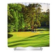 No. 11 White Dogwood 505 Yards Par 4 Shower Curtain