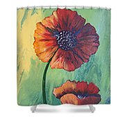No. 17 Spring And Summer Floral Series Shower Curtain