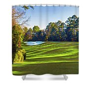 No. 5 Magnolia 455 Yards  Par 4 Shower Curtain