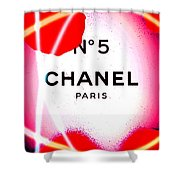 No 5 Pink Shower Curtain