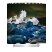 No Calm Before The Storm Shower Curtain