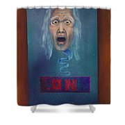 No Entry Into Heaven Shower Curtain