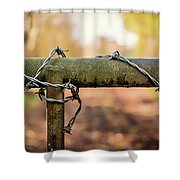 No Entry Shower Curtain by Nick Bywater
