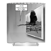 No Fly Zone Shower Curtain