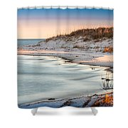 No Footsteps In The Sand #101 Shower Curtain