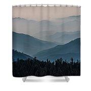 Misty Blue Shades Of Generals Highway 2 Shower Curtain
