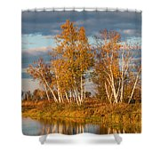 Crex Meadows At Sunset Shower Curtain