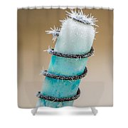Hoar Frost Crystal Shower Curtain