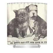 No Knife Can Cut Our Love In Two Shower Curtain
