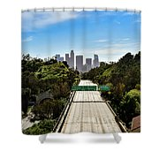 No More Cars In Los Angeles. Shower Curtain