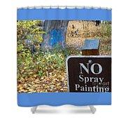 No Spray Painting Shower Curtain
