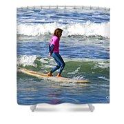 No Stress Surfing Shower Curtain