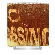 No Trespassing Shower Curtain