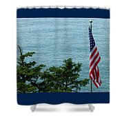 No Wind For Flag Shower Curtain