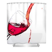 No Wine Was Harmed During The Making Of This Image Shower Curtain