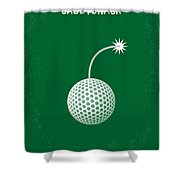 No013 My Caddy Shack Minimal Movie Poster Shower Curtain