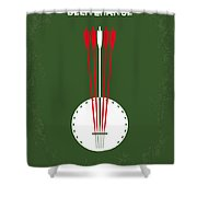 No020 My Deliverance Minimal Movie Poster Shower Curtain