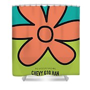 No020 My Scooby Doo Minimal Movie Car Poster Shower Curtain