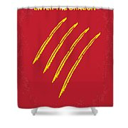 No026 My Enter The Dragon Minimal Movie Poster Shower Curtain
