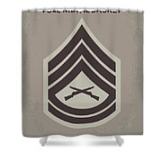No030 My Full Metal Jacket Minimal Movie Poster Shower Curtain