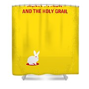 No036 My Monty Python And The Holy Grail Minimal Movie Poster Shower Curtain