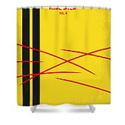No049 My Kill Bill-part2 Minimal Movie Poster Shower Curtain