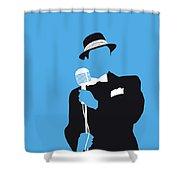 No059 My Sinatra Minimal Music Poster Shower Curtain
