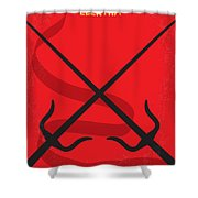 No060 My Electra Minimal Movie Poster Shower Curtain