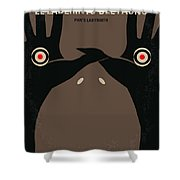No061 My Pans Labyrinth Minimal Movie Poster Shower Curtain by Chungkong Art