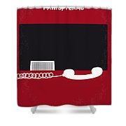 No062 My Paris Texas Minimal Movie Poster Shower Curtain