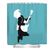 No065 My Acdc Minimal Music Poster Shower Curtain