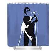 No068 My Lou Reed Minimal Music Poster Shower Curtain