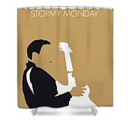 No070 My Tbone Walker Minimal Music Poster Shower Curtain
