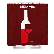 No078 My Silence Of The Lamb Minimal Movie Poster Shower Curtain