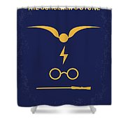 No101 My Harry Potter Minimal Movie Poster Shower Curtain