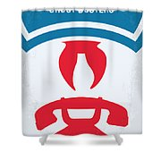 No104 My Ghostbusters Minimal Movie Poster Shower Curtain