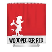 No12 My Minimal Color Code Poster Woody Woodpecker Shower Curtain