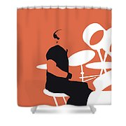 No163 My Phil Collins Minimal Music Poster Shower Curtain