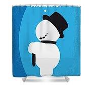No172 My Knick Knack Minimal Movie Poster Shower Curtain