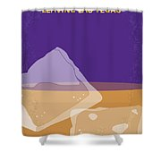 No180 My Leaving Las Vegas Minimal Movie Poster Shower Curtain