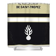 No186 My Le Gendarme De Saint-tropez Minimal Movie Poster Shower Curtain